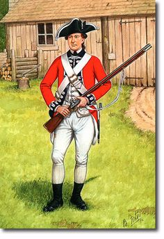 Private of the 3rd Regiment of Foot Guards circa. 1777.