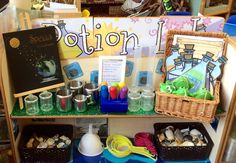 Enhancement in the sand/water area linked to Room on a Broom text this half term.