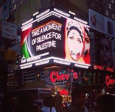 Nueva York, un momento de silencio por Palestina