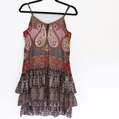 Band of Gypsies • Printed Drop Waist Dress Barely worn! Great condition. Purchased from Urban Outfitters.   •Laying flat bust: 34 •Length from shoulder to bottom: 32  ❌No trades ❌No PayPal ❌No asking for the lowest price Band of Gypsies Dresses Mini