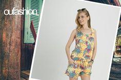 Para começar a semana leve, com uma vibe positiva, macaquinho comfy!  #print #comfy #macaquinho #verão2016 #oufashion