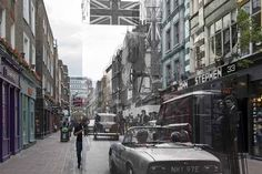 Carnaby Street, 1968. | 18 Photos Of London's Past, Blended With Its Present