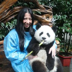 Panda Reserves in Chengdu, China.  A must see and do.  And yes, that's a real baby panda! I sooo want to hold it!