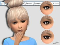 MP Natural Eyeliner for Child at BTB Sims – MartyP via Sims 4 Updates