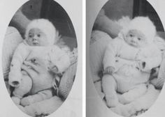 Kray twins as babies in Ronnie (left) and Reggie