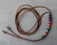 Bolo Wrap Bolo Halskette Bolotie Halsband von vanessahandmade