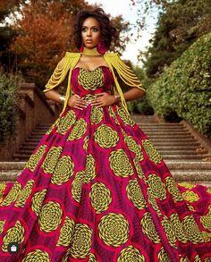 Modern African Print Dresses, African Print Wedding Dress, African Prom Dresses, Latest African Fashion Dresses, African Dresses For Women, African Dress Designs, South African Traditional Dresses, Zulu Traditional Attire, Mode Wax