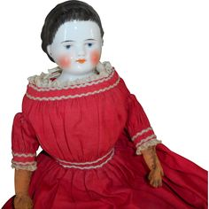 Alice Band China Doll All Original from theluckyblackcat on Ruby Lane House Accessories, Doll Accessories, Antique Dolls, Vintage Dolls, Alice Band, Mrs Claus, China Dolls, Bisque Doll, Wooden Dolls