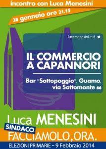 Incontro con Luca Menesini sul tema il commercio a Capannori