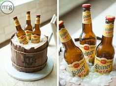 beer cake...now, that is an awesome grooms cake, if your man likes beer....mine does! :)