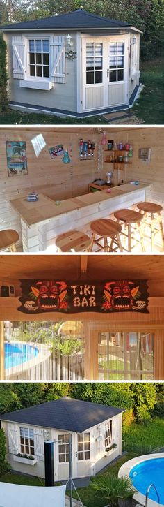Garden shed furnishings: Celebrate in your own garden shed? No probl. Bar Stools, Shed, Outdoor Decor, House, Gardening, Home Decor, Bar Set Up, Deco, Summer