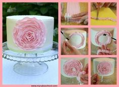 There are many different ways to make the ruffle flower and this is a tutorial shows us how to make it using strips of fondant.