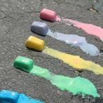 Ice Chalk for summer holidays. Includes recipe.