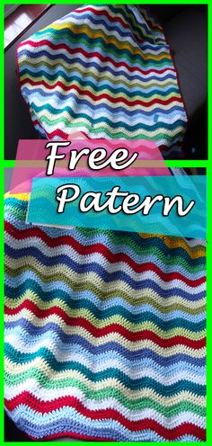 Blanket Crochet Pattern Throw Neat Ripple, Blanket, Crochet, Throw, Free Pattern, Crochet Pattern, Blanket Pattern, Rainbow, DIY, Crafts, Handmade, Step by Step, Yarn, Ravelry. #crocheting #crochet #crochetpatterns #freepatterns #crochetblanket