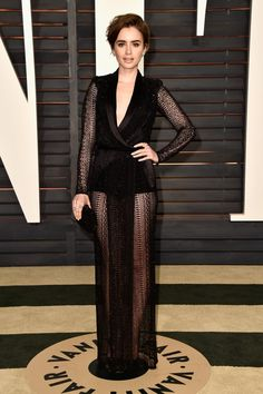 Pin for Later: Les 24 Looks les Plus Sexy des Oscars Lily Collins