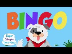 Tom loved this one and was good at helping him to recognize the letters in BINGO. BINGO from Super Simple Songs Kindergarten Songs, Preschool Music, Fun Songs, Kids Songs, Rhymes Songs, Baby Songs, Action Songs, Music And Movement, School Videos