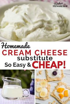 How to Make Whey & Yogurt Cheese (Frugal Healthy Cream Cheese Substitute! Healthy Cream Cheese, Make Cream Cheese, Cream Cheese Recipes, How To Make Cheese, Healthy Recipes On A Budget, Clean Eating Recipes, Gourmet Recipes, Real Food Recipes, Whey Recipes