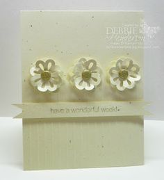 Stampin' Up! Blossom Punch Clean & Simple by Debbie Henderson, Debbie's Designs!
