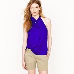 JCREW Silk Bow Cami Perfect for work or weekends.  Dry clean. J. Crew Tops Blouses