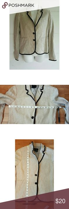 J.crew schoolboy blazer In good used condition.  The lining on the left sleeve looks like part of it has been re stitched, you can see in the last picture. Has pockets, black trim, has small shoulder pads.  Comes from a smoke free home, I do have fur babies. But I check my clothes before shipping out, I do apologize if I miss one or two ??  Shoulder to shoulder 14.5 Sleeve 24 J. Crew Jackets & Coats Blazers