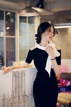 Korean fashion | office dress www.milkcocoa.co.kr