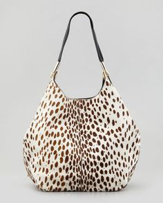 Spotted Calf Hair Shopper Tote Bag by Elizabeth and James at Neiman Marcus. $625
