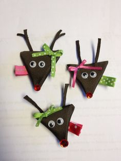 Christmas Hair Bow setchoose any 3 by kyky023 on Etsy, $15.00