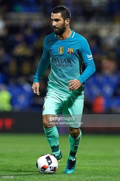 Arda Turan of Barcelona in action during the La Copa del Rey first leg match between Hercules CF and FC Barcelona at Jose Rico Perez on November 30, 2016 in Alicante, Spain.