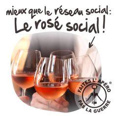 Mieux que le réseau social, le rosé social ! #réseauxsociaux #vin #rosé