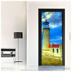 Lighthouse Door Mural