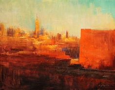 New York Sunlight by Chin H Shin Oil ~ 22 x 28