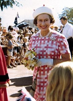 Daphne Jones, 86, from Thetford, Norfolk, was working in Darwin, Australia, when the Queen came to visit in  1970.