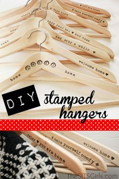 DIY Hangers: How to Make Wooden Stamped Hangers