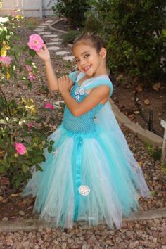 Halloween Costume for Lilly...  Elsa Tutu Dress by creationsbycarlita on Etsy, $50.00