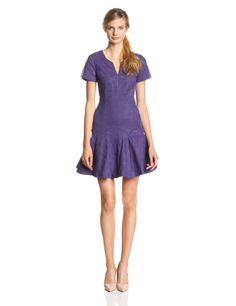 Short Sleeve Jacquard Flippy Dress by Rebecca Taylor