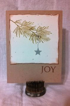 simple pine branch by lori92760 - Cards and Paper Crafts at Splitcoaststampers, rubber stamping cards, christmas