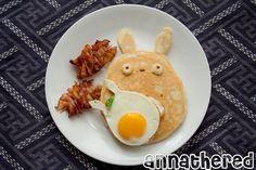 Totoro breakfast ♥ studio ghibli food