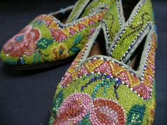 The making of Kasut Manek - Nonya Beaded Shoes - used to be one of those dying crafts. But a new generation has rediscovered the joy and pleasure in creating these beautiful shoes, many of which are works of art in their own right.