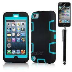 Hybrid Impact Hard Soft Rubber Rugged Case Cover for iPod Touch 5th Gen 5 5g | eBay