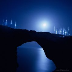 Lightmark No.30, Puente Natural en Cala Varques, Spain, Indonesia, Light Painting, Night Photography.