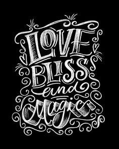 love, Bliss & Magic Art Print by @maiathen @magicmaia