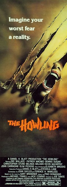 "The Howling – ""Beyond anything human."" – – Promotional materials, advertisements, and horror movie prints The Howling – ""Beyond anything human."" – – Promotional materials, advertisements, and horror movie prints Horror Movie Posters, Best Horror Movies, Best Movie Posters, Classic Movie Posters, Classic Horror Movies, Scary Movies, Classic Films, Old Movies, Vintage Movies"