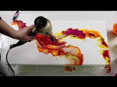 In today's video I did a gorgeous dutch pour with yellow, orange and magenta with white as the background. Flow Painting, Acrylic Painting Lessons, Drip Painting, Painting & Drawing, Acrylic Pouring Techniques, Acrylic Pouring Art, Acrylic Art, Smart Art, Abstract Art