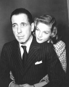 Humphrey Bogart and Lauren Bacall. One of Hollywood's greatest couples.