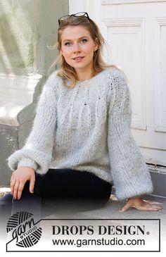 Free knitting patterns and crochet patterns by DROPS Design Easy Sweater Knitting Patterns, Knit Patterns, Free Knitting, Drops Design, Big Knits, Knitwear Fashion, Crochet Diagram, Chunky Yarn, Knit Crochet