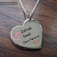 Write Couple Name Heart Pendant Profile Image Edit Online Free | My Name Pix Cards Name Pictures, Heart Pictures, Cute Couple Pictures, Love Images With Name, Love Heart Images, Feeling Loved Quotes, I Love You Quotes, My Name Wallpaper, Couple Name Tattoos