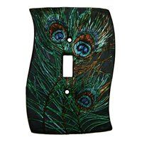 New Peacock Feathers Single Lightswitch Cover Art Deco Light Switch Plate Light Switch Plates, Light Switch Covers, New Home Wishes, Peacock Decor, Art Deco Lighting, Morning Inspiration, Beautiful Color Combinations, Dream Home Design, Peacock Feathers