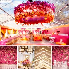 Perfect Lighting For Your Event love the flower inspired lamp shades!!