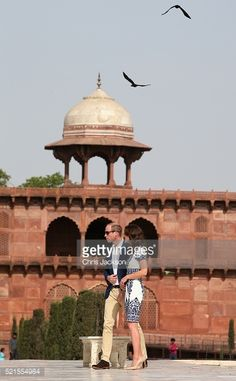 Prince William, Duke of Cambridge and Catherine, Duchess of Cambridge pose in front of the Taj Mahal on April 16, 2016 in Agra, India. This is the last engagement of the Royal couple after a week...