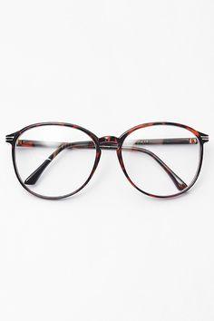 Tia Thin Frame Pastel Clear Glasses - Tortoise #1020-2